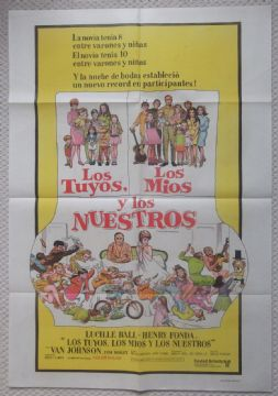 Yours Mine and Ours, Original Argentinian Movie Poster, Lucille Ball, '68